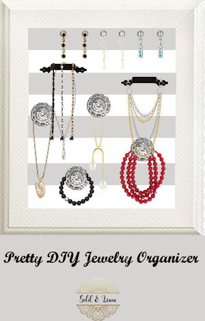 How To Make Your Own Pretty Wall Frame Jewelry Organizer – Gold and ...
